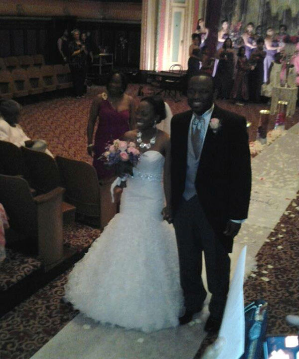 "<div class=""meta image-caption""><div class=""origin-logo origin-image none""><span>none</span></div><span class=""caption-text"">ABC-13 Reporter Tracy Clemons and his lovely wife on their wedding day</span></div>"