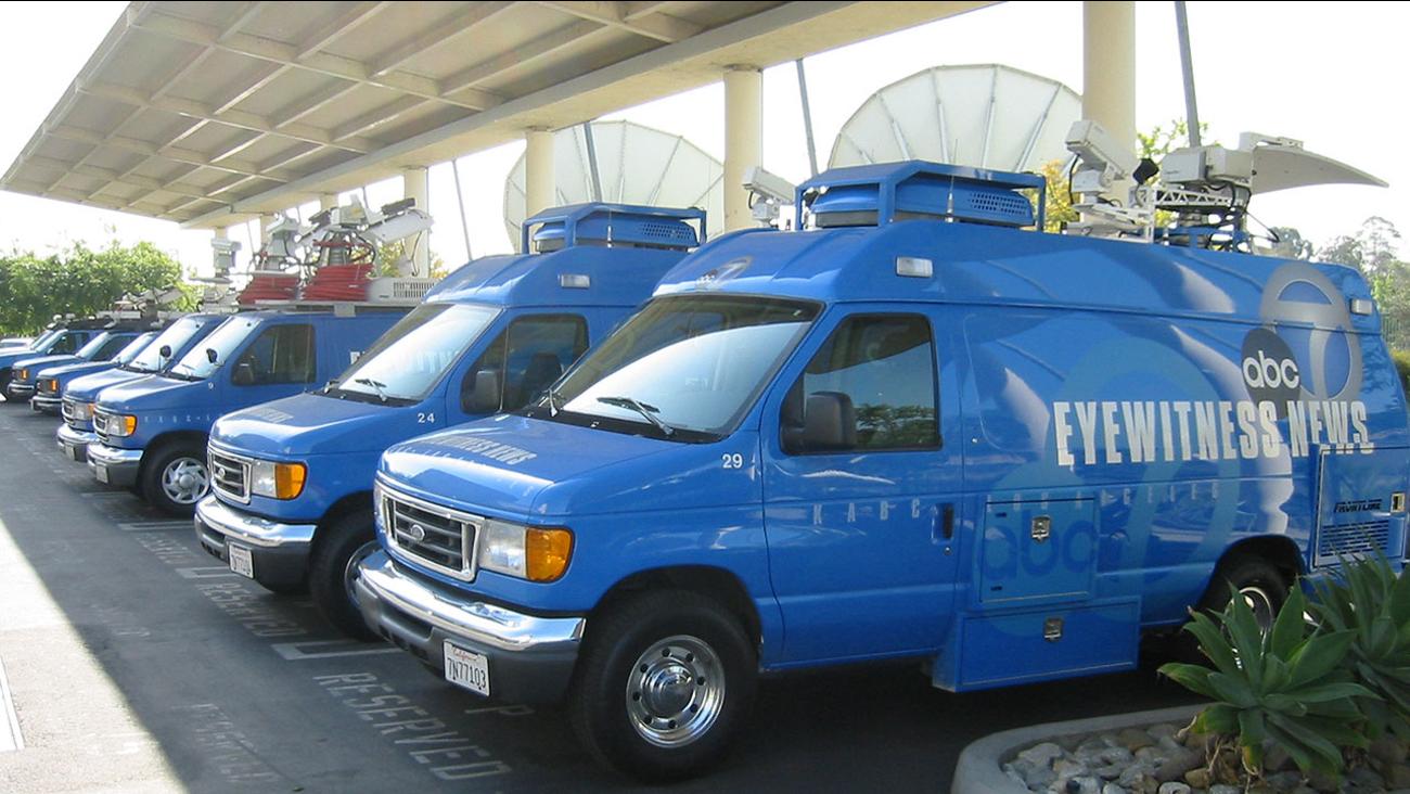 ABC7 News Vans