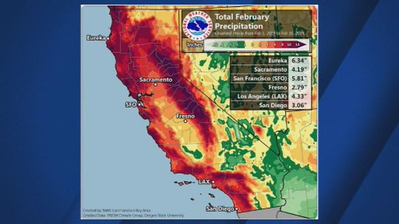 February storms soak California with 18 trillion gallons of water on map go california, map la california, map cisco california, map california california,