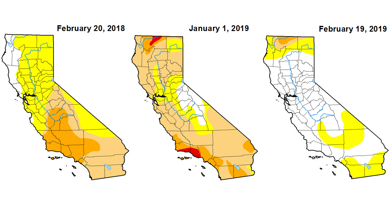 California Drought Map on