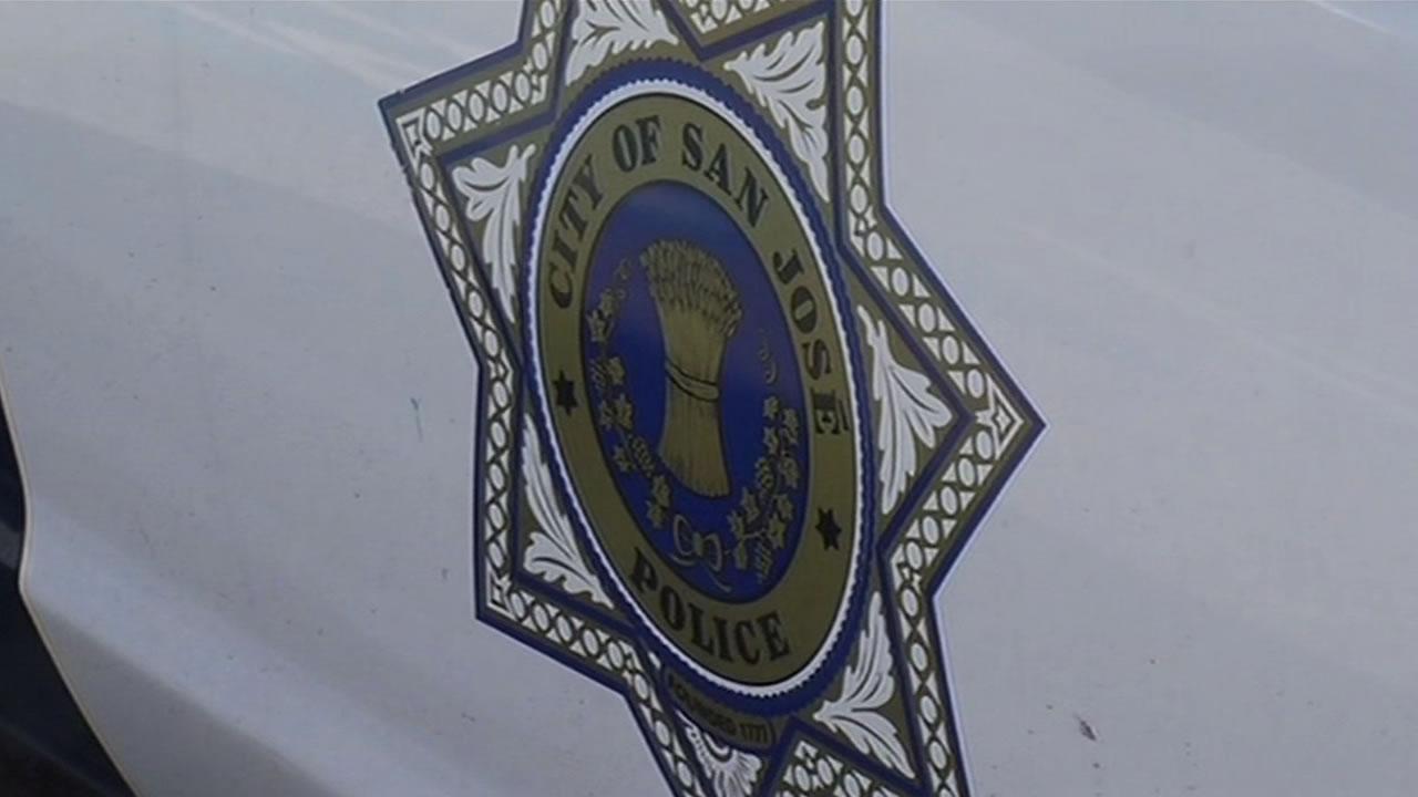 San Jose police car emblem.