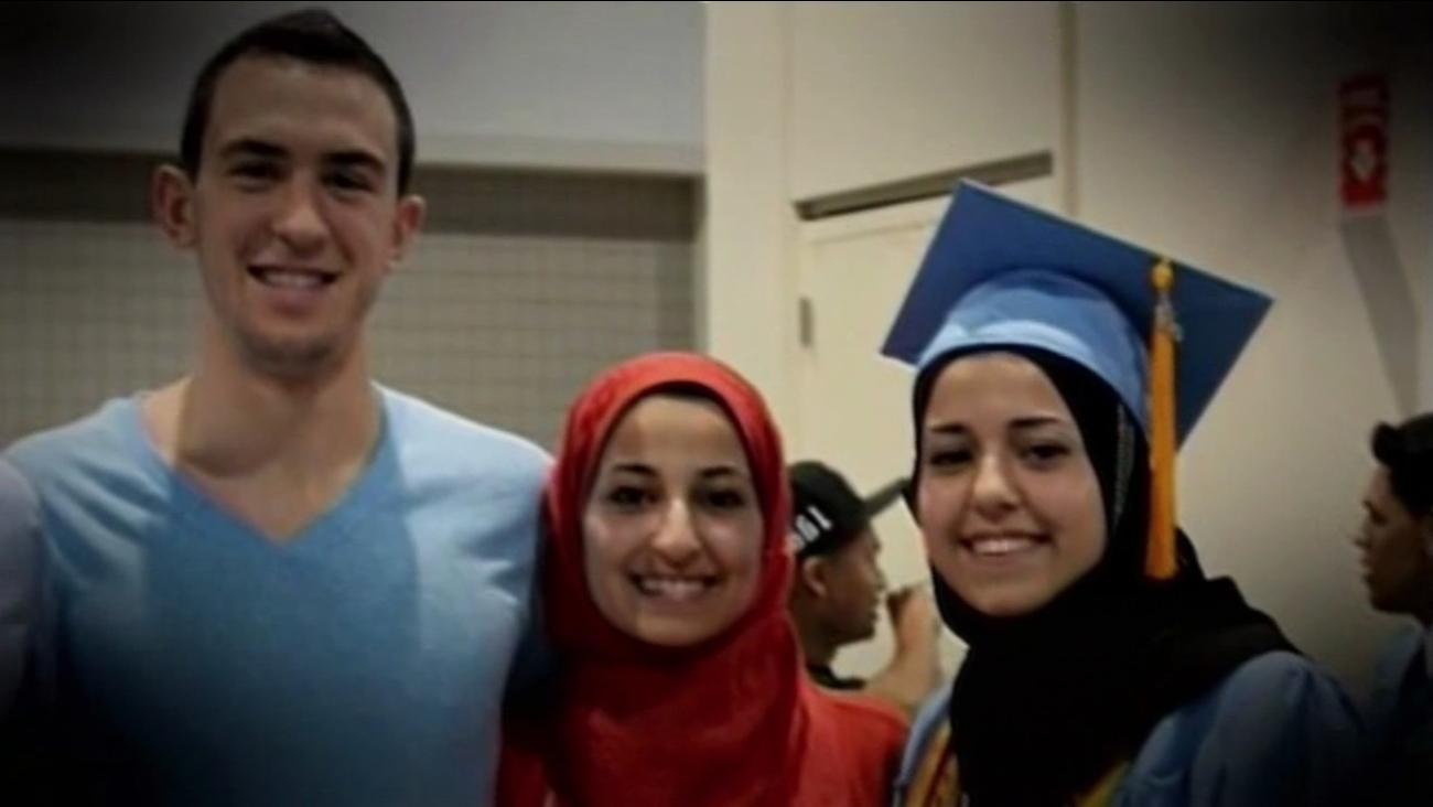 Muslim college students Deah Barakat, 23, Yusor mohammad, 21, and Razan Mohammad Abu-Salha, 19, were killed in North Carolina on Feb. 10, 2015.