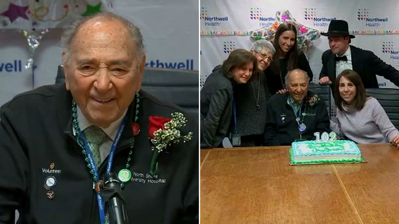 Surprise! Long Island hospital celebrates long-time volunteer's 102nd  birthday