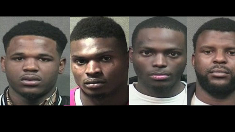 Four arrested for smash and grab heist at jewelry store