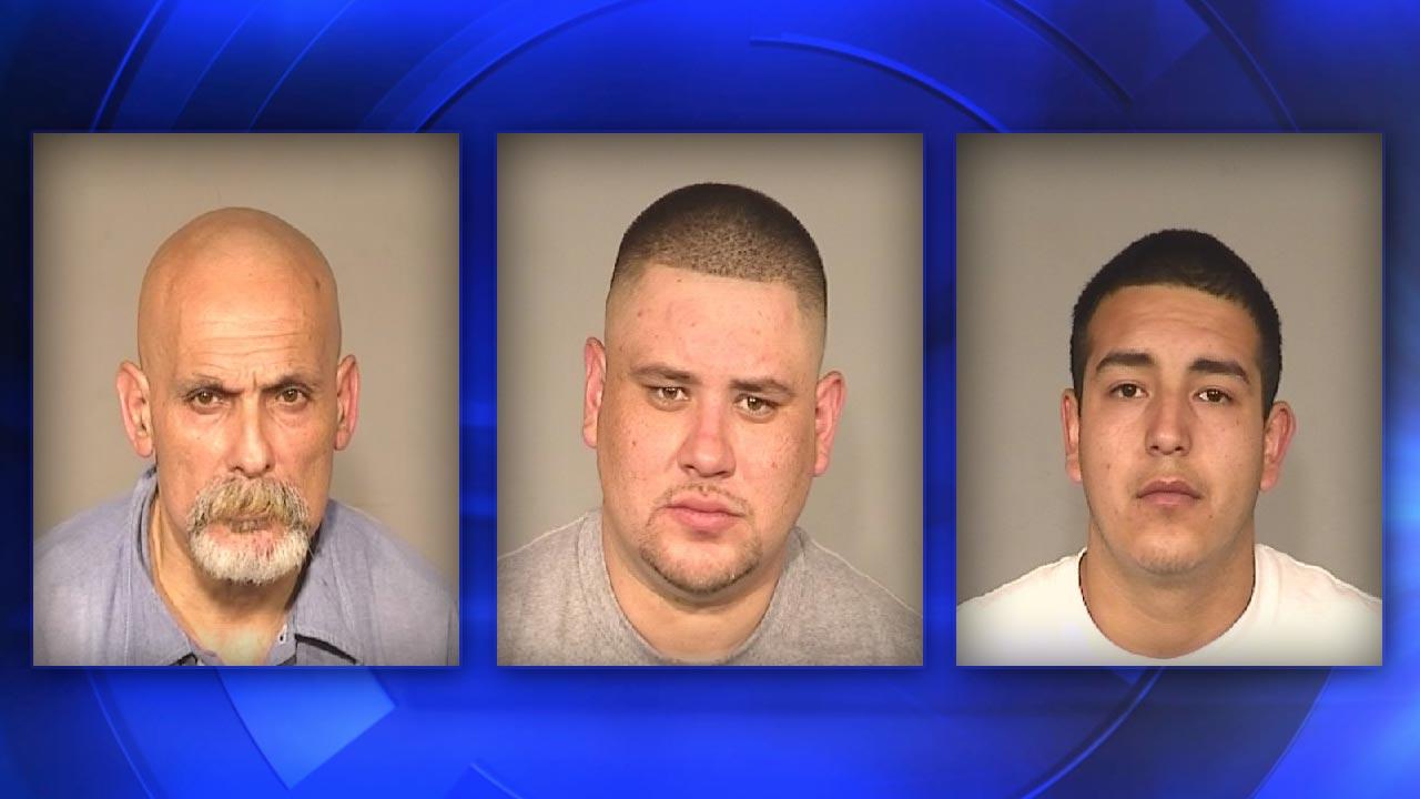 Fresno Target theft suspects Lerme Lerma, Arthur Michel, Damian Reyes-Martinez