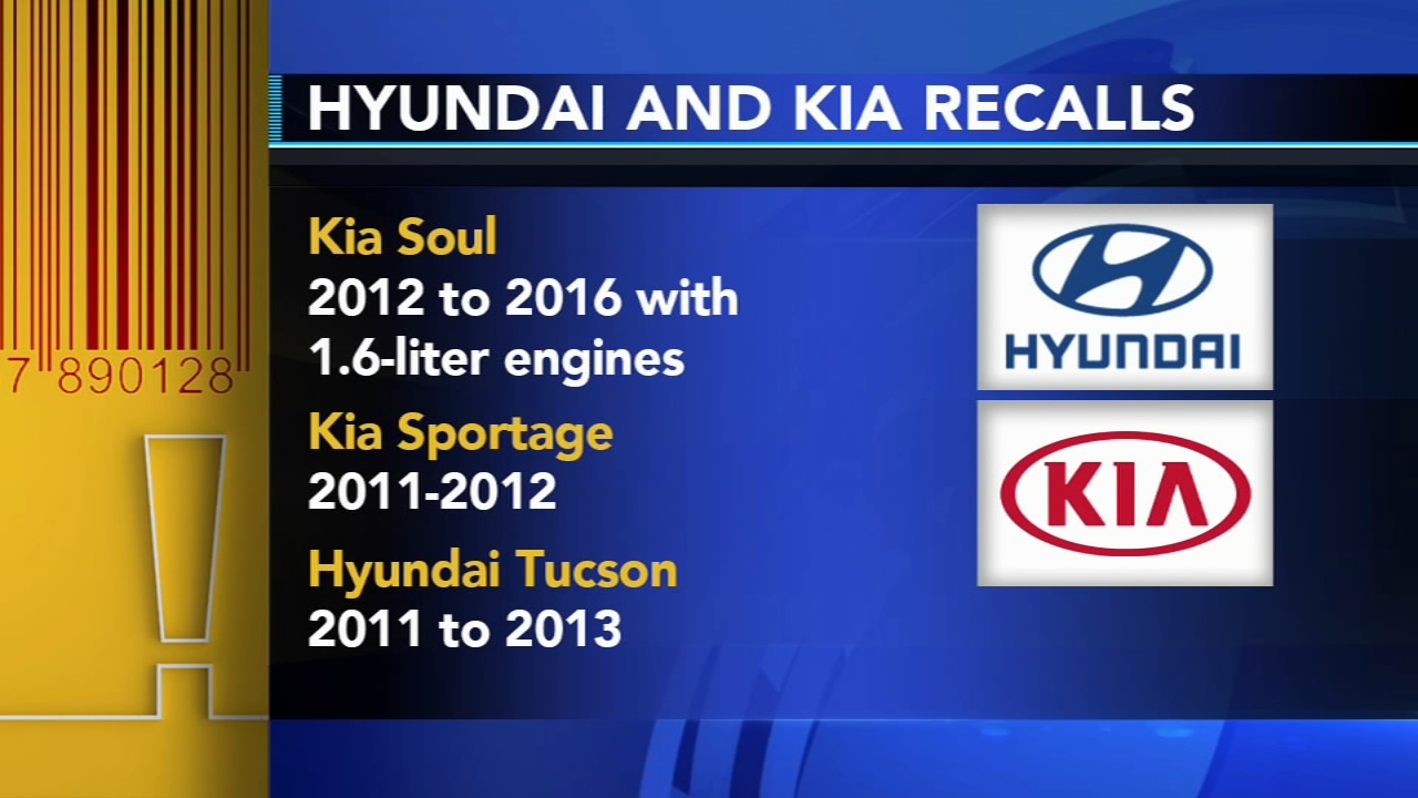2013 Kia Soul Recalls >> Kia Hyundai Recall Vehicles Due To Possible Engine Fires Abc11 Com