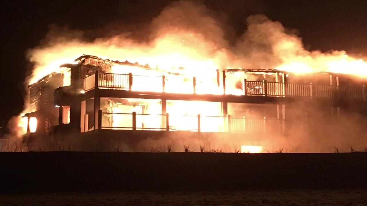 14 fire departments battle fire at Ocean Crest Motel