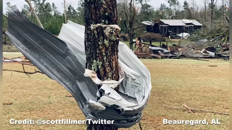 Beauregard, Alabama tornado damage
