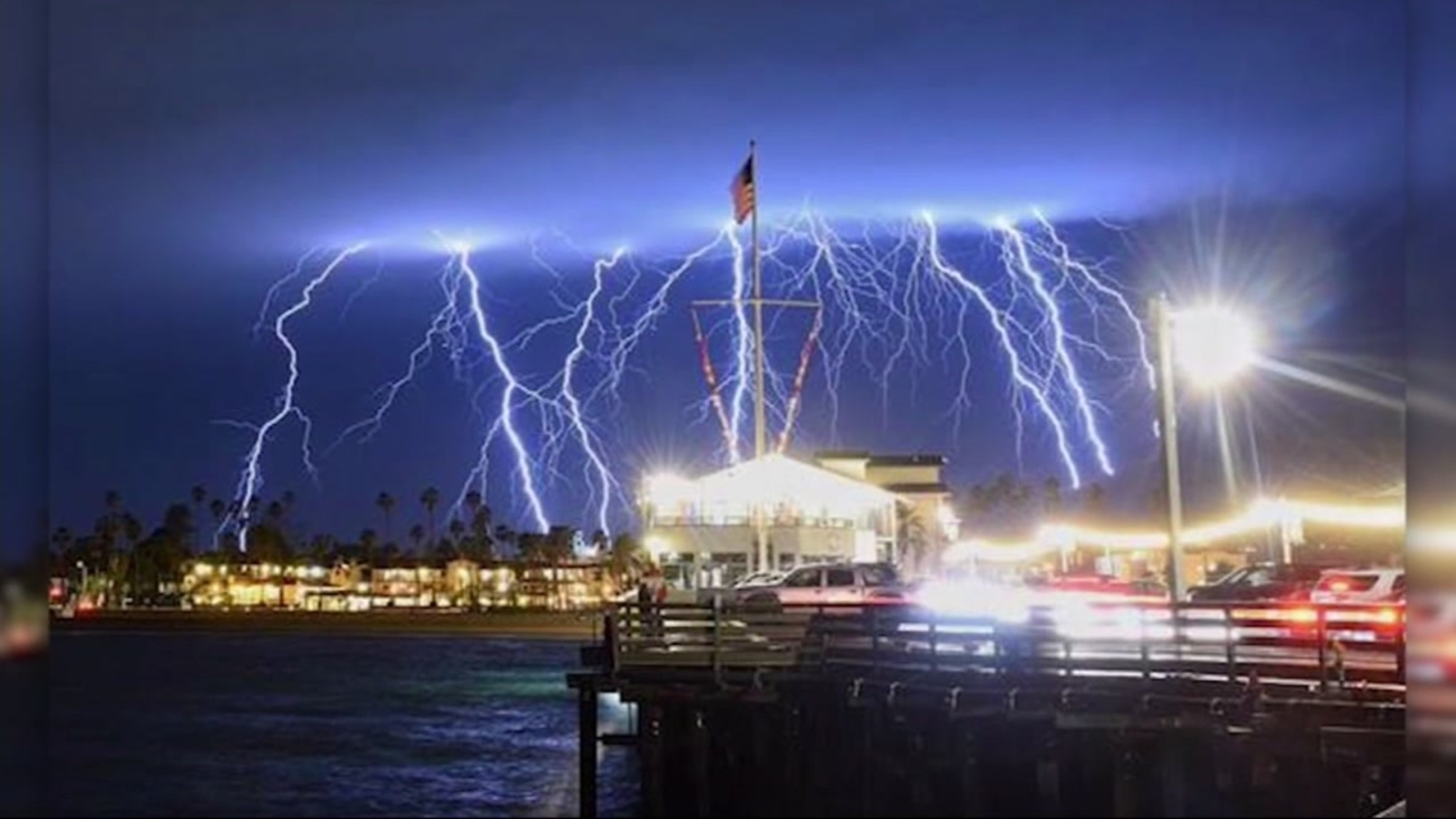 More than 2200 lighting strikes reported in southern california overnight abc7news com