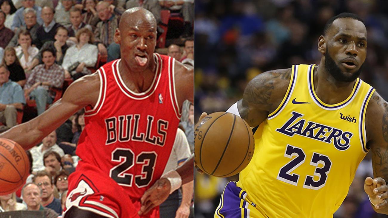 best sneakers 4da9f 0a107 LeBron passes Jordan on all-time scoring list   abc7.com