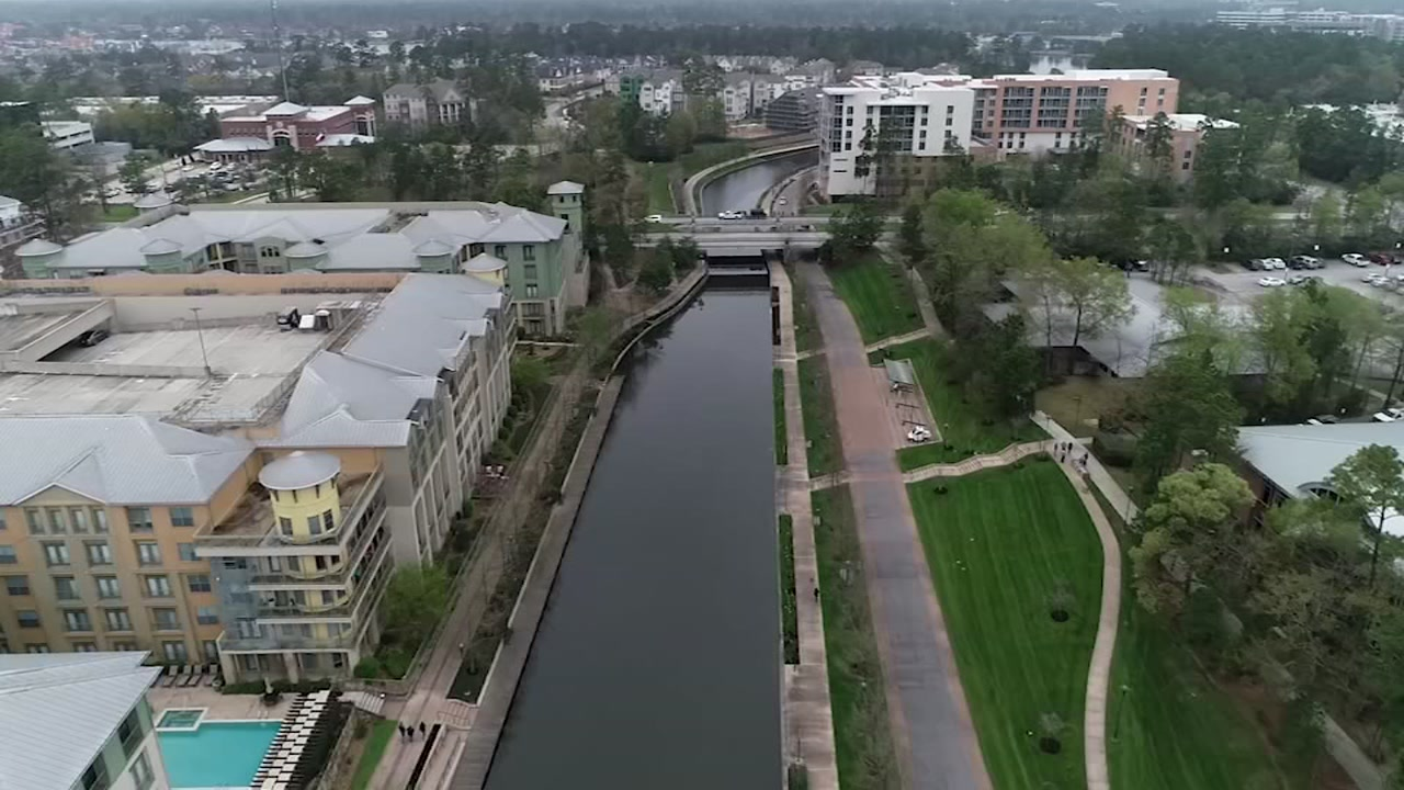 Обои техас, Вода, дома, Woodlands Waterway, сша, канал. Города foto 12