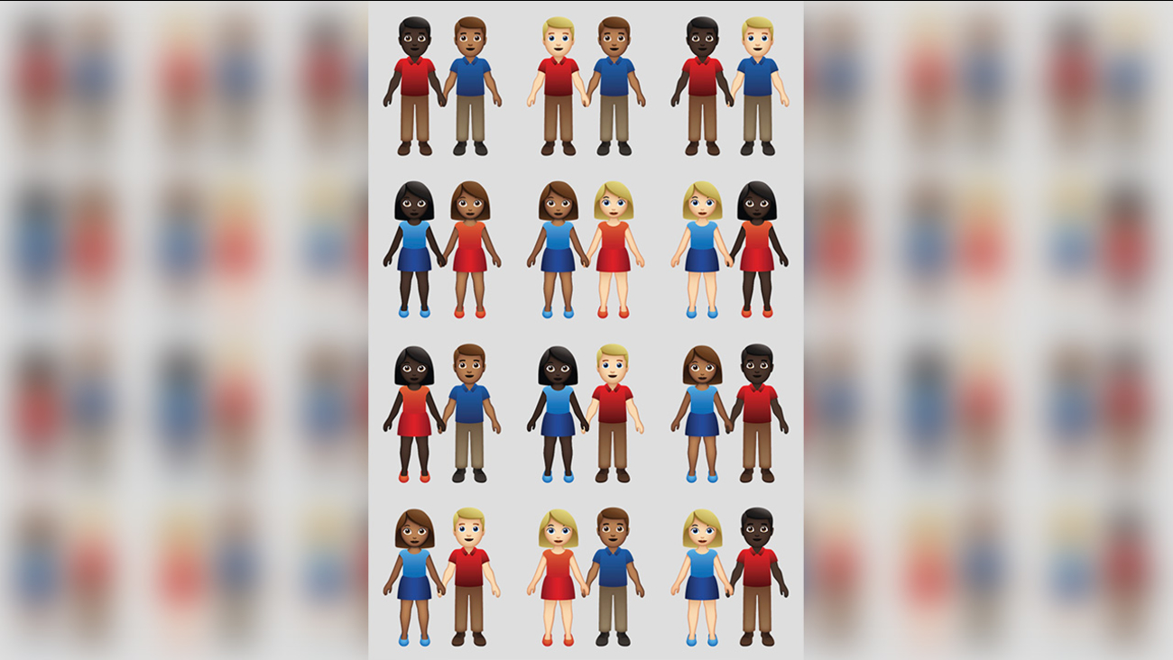 Image result for Emoji gods approve skin-tone options for couples of color