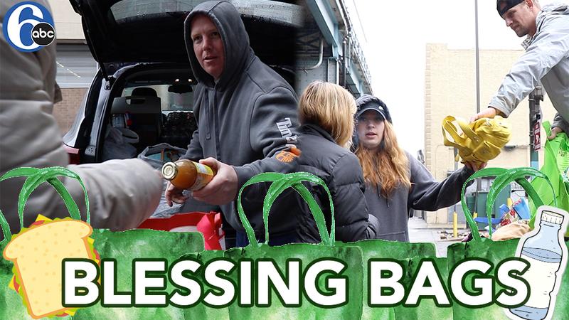 Blessings for the homeless under Kensington Bridges