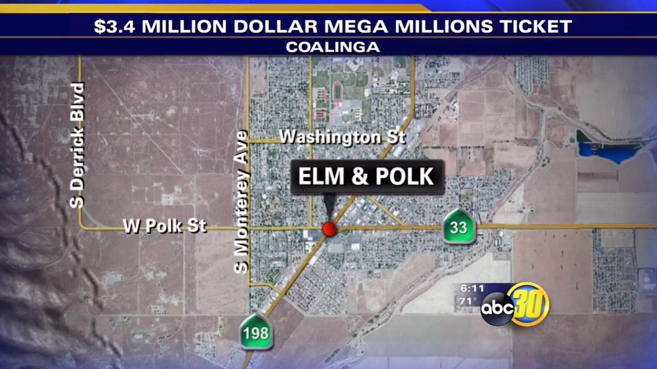 Mega Millions ticket worth $3.4M sold in Coalinga