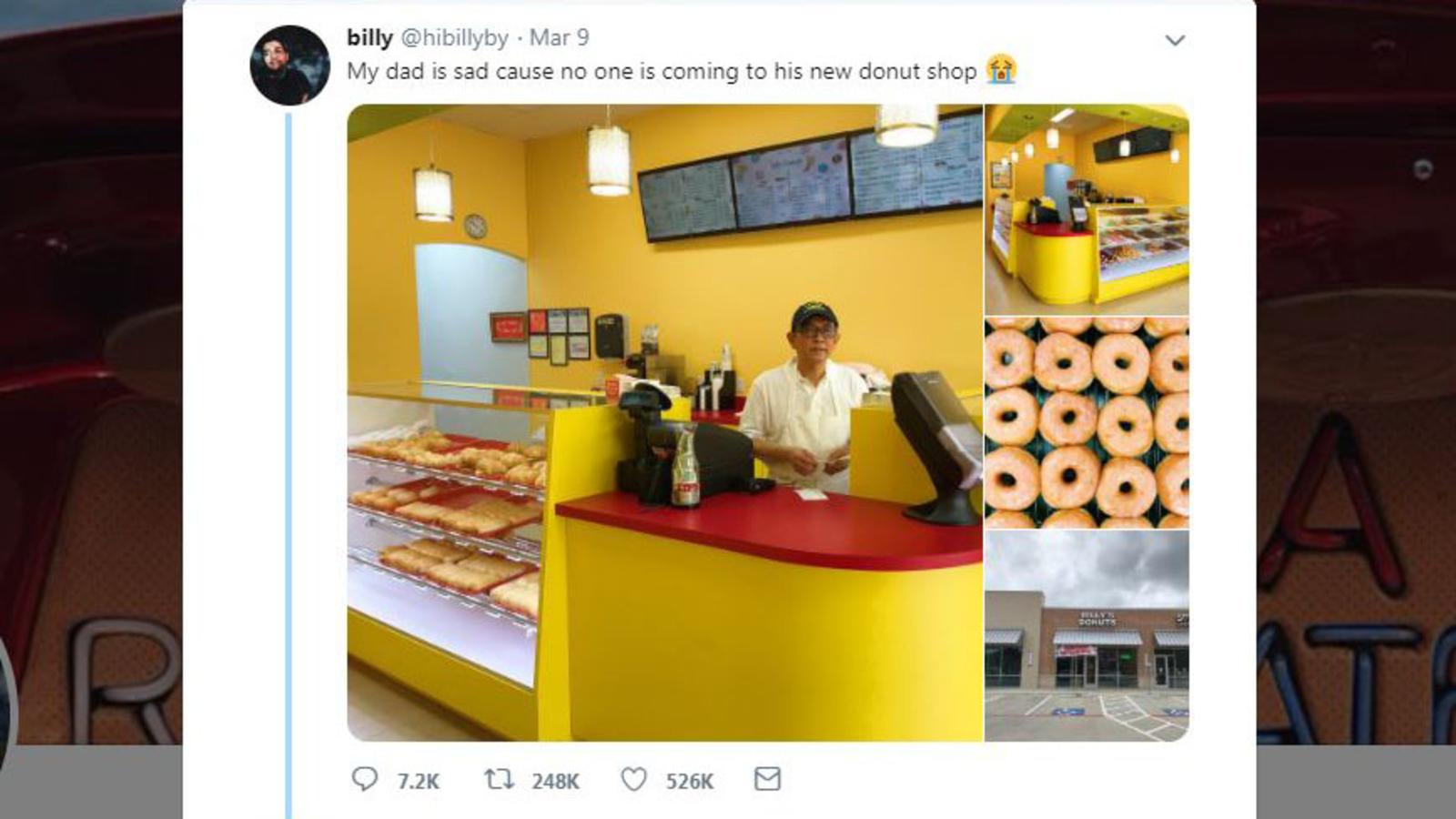 abc13.com: Sad tweet of dad's empty Missouri City doughnut shop goes viral, boosts sales