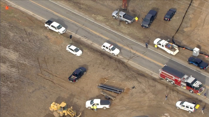 Gas Leak In Car >> Chopper 6 Over The Scen Of A Gas Main Repair In Woolwich Twp