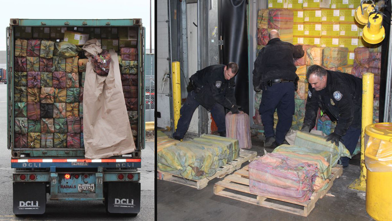 3,200 pounds of cocaine seized at Port of New York/Newark, largest in 25  years