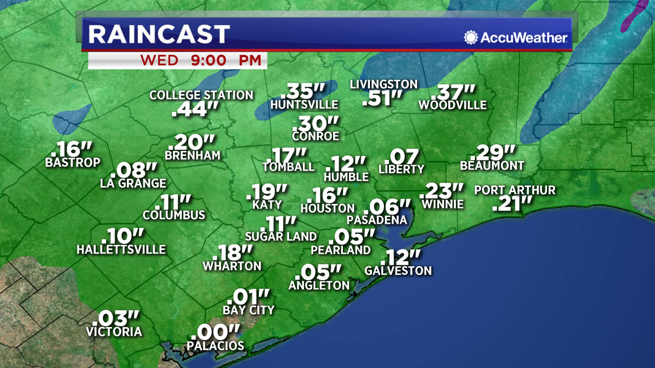 Houston Weather Rain Moves Across Se Texas Today More Possible