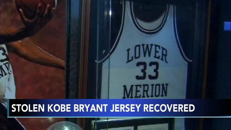 newest ac618 bdf57 Stolen Kobe Bryant jersey recovered