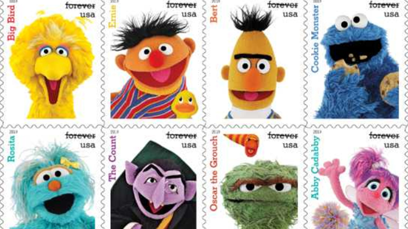 Usps Launches Sesame Street Stamps