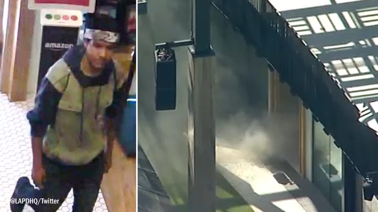 Arson, assault suspect sought in Century City mall scare