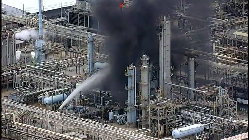 No injuries reported during ExxonMobil refinery fire
