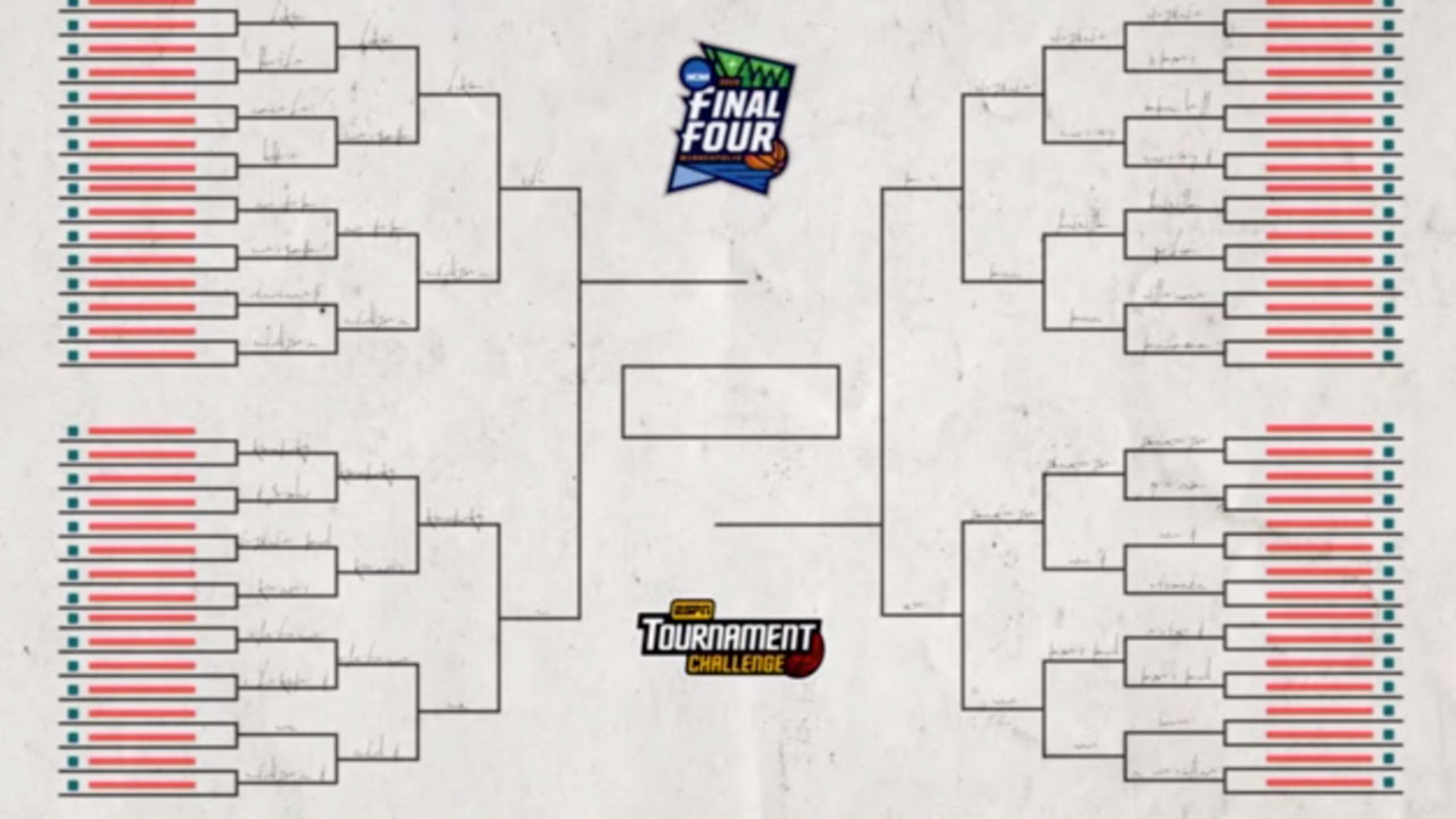 March Madness 2019 Get Your Printable Ncaa Bracket From Espn 6abc Com