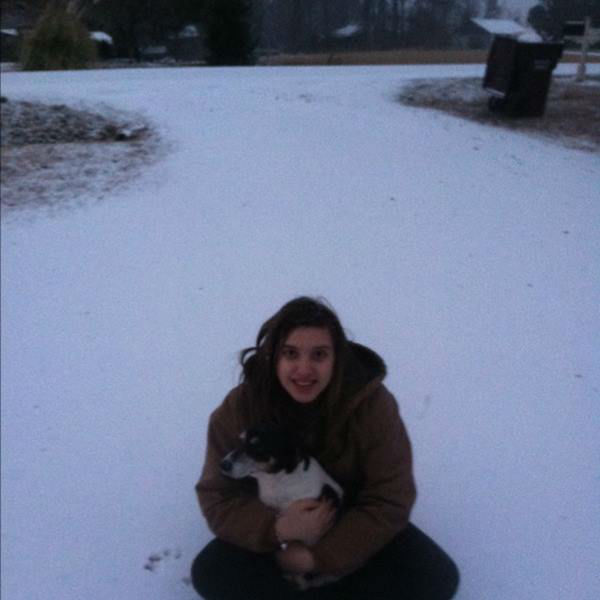 """<div class=""""meta image-caption""""><div class=""""origin-logo origin-image none""""><span>none</span></div><span class=""""caption-text"""">Eyewitness Ashley McCoy and her dog are enjoying the snow in Allensville.</span></div>"""