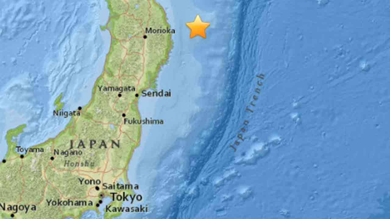 Japan has issued a tsunami advisory after a magnitude-6.9 quake struck off its northeastern coast, in the same area that was hit by a devastating quake and tsunami in March 2011.