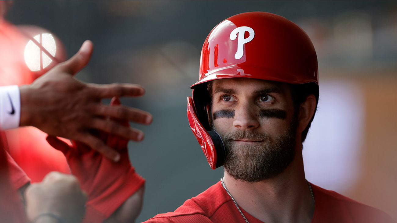 ad5689be Bryce Harper hits 1st, 2nd spring training home runs with Phillies ...