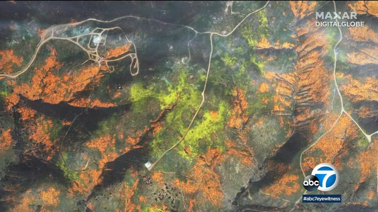 Lake Elsinore's hillside-covered poppies visible from space