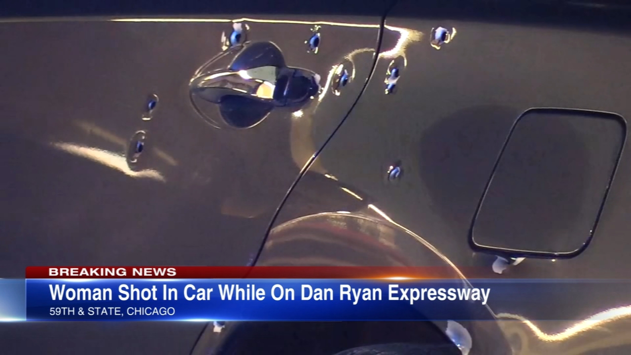 Dan Ryan shut down for hours Friday morning after woman shot in car