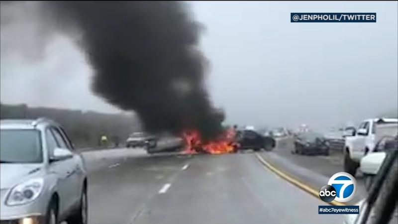 Gorman multi-vehicle pileup on 5 freeway leaves several injured, officials  say
