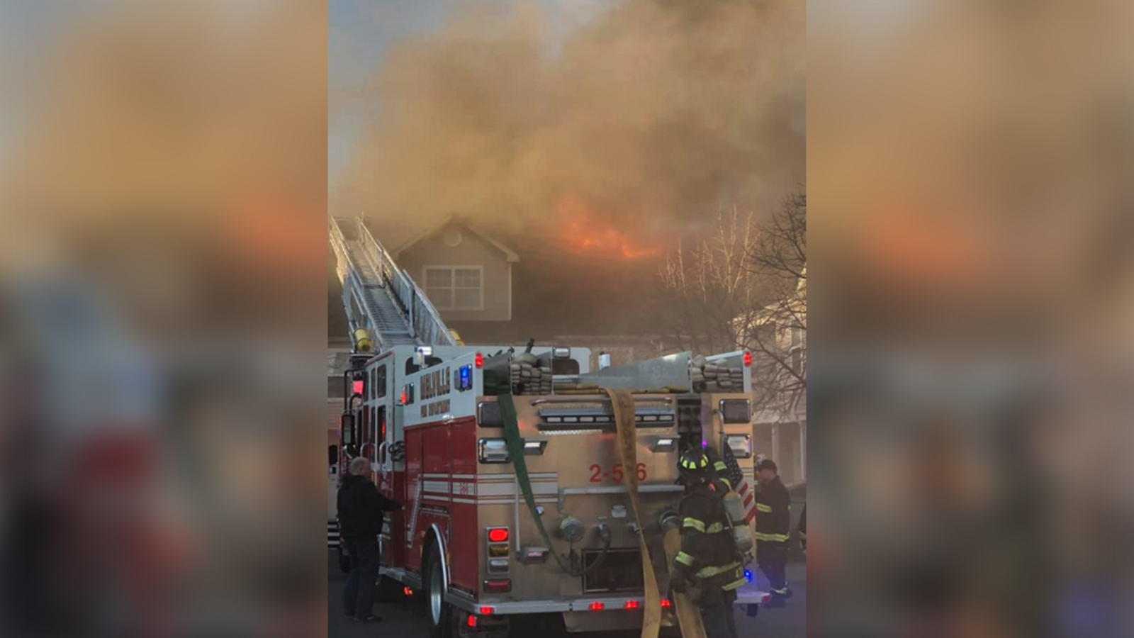 3bc79494956 Dozens displaced after large wind-swept fire at Melville apartment complex