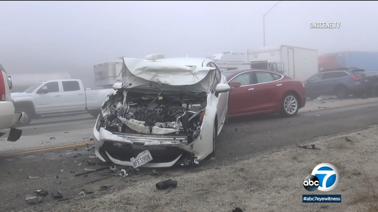 Major multi-vehicle pileup on 5 Freeway in Gorman leaves several injured, officials say