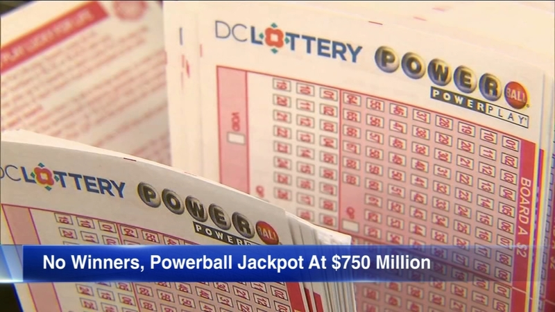 Powerball Results Winning Numbers Drawing Yields No Winner Lottery Jackpot At 750m Abc7 Chicago