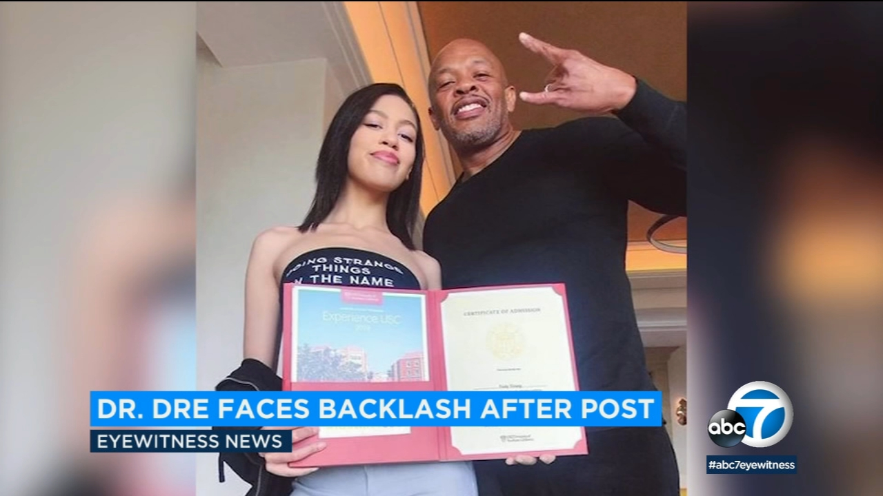 Dr. Dre faces backlash after bragging of daughter's acceptance to USC