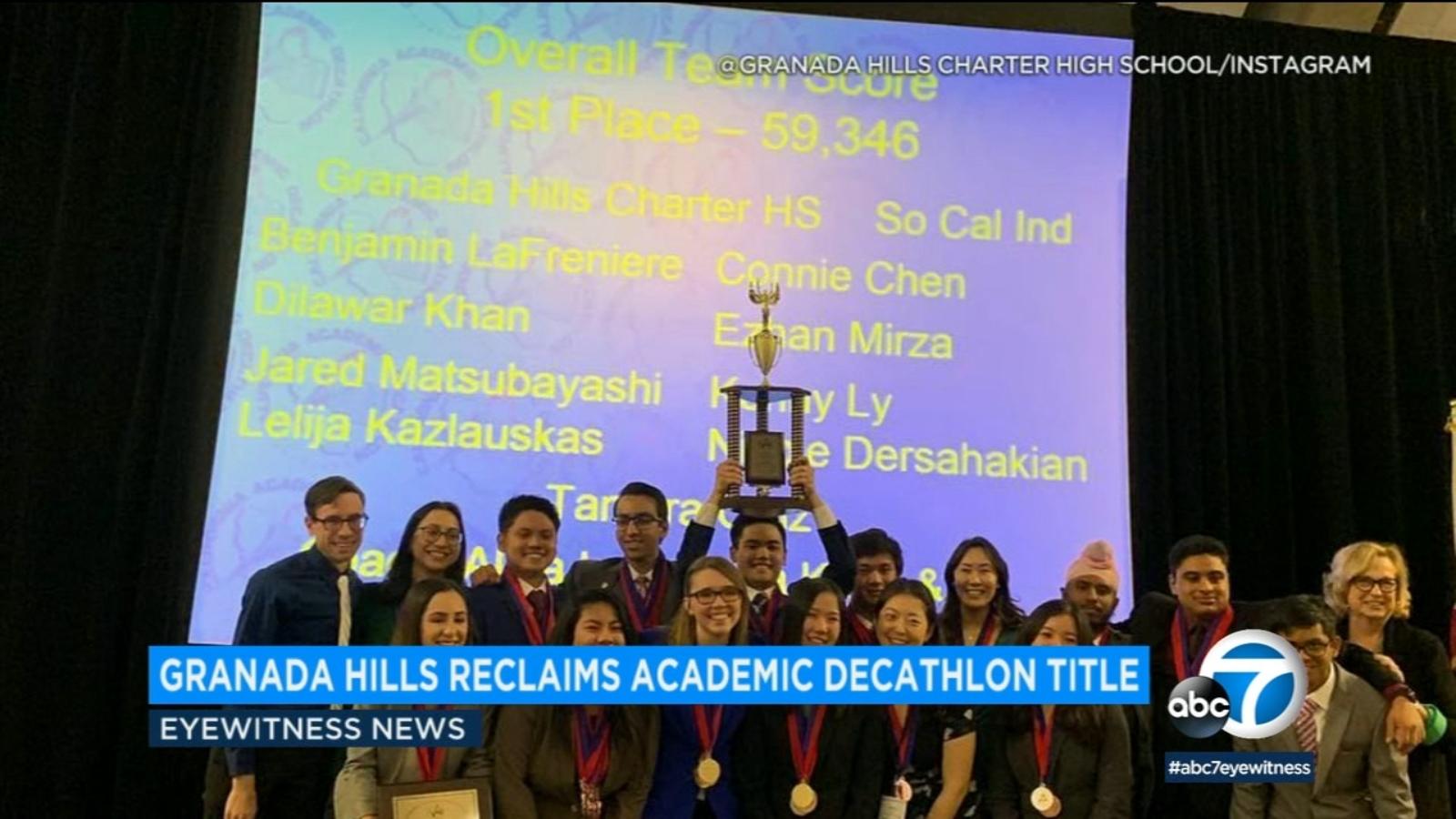 0890a0d4f Granada Hills school wins California Academic Decathlon