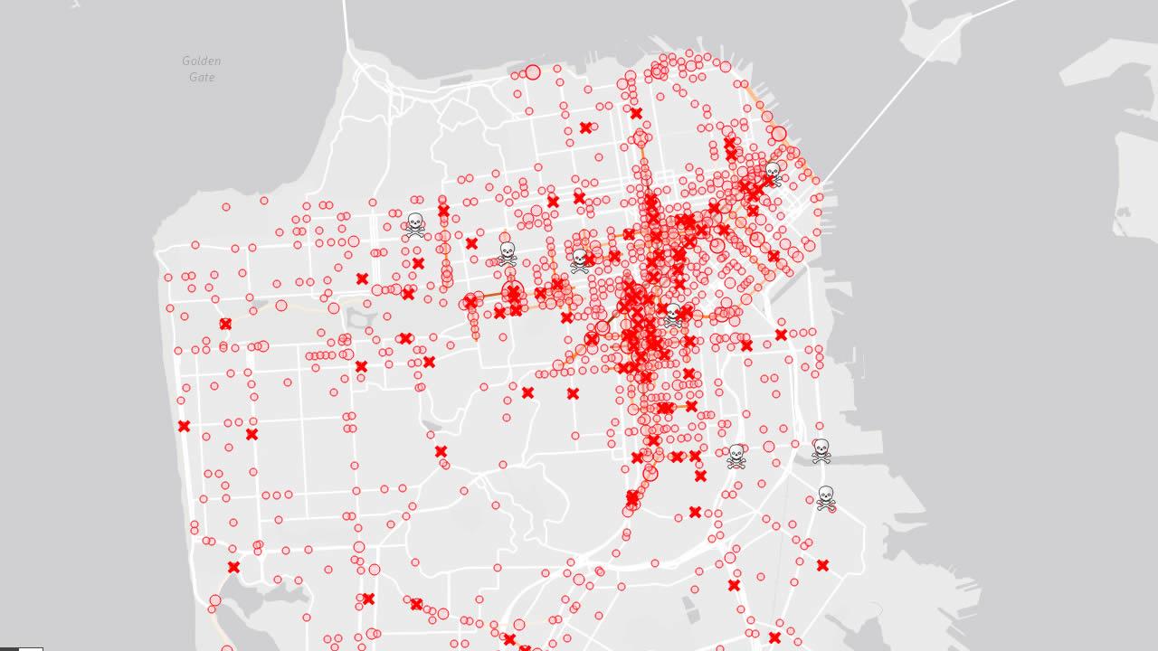 interactive pedestrian map