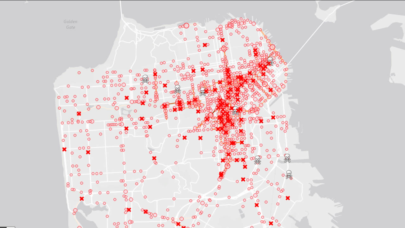 Image result for Berkeley intersection dangerous map san francisco