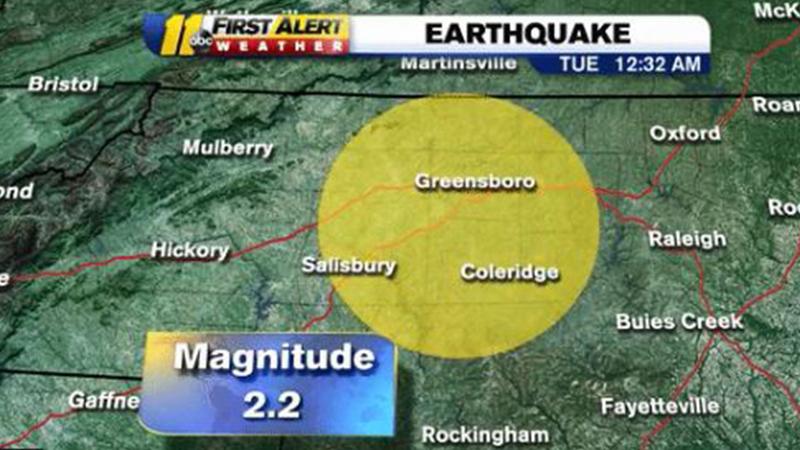 Earthquake NC: 2 2 magnitude earthquake hits near Triad