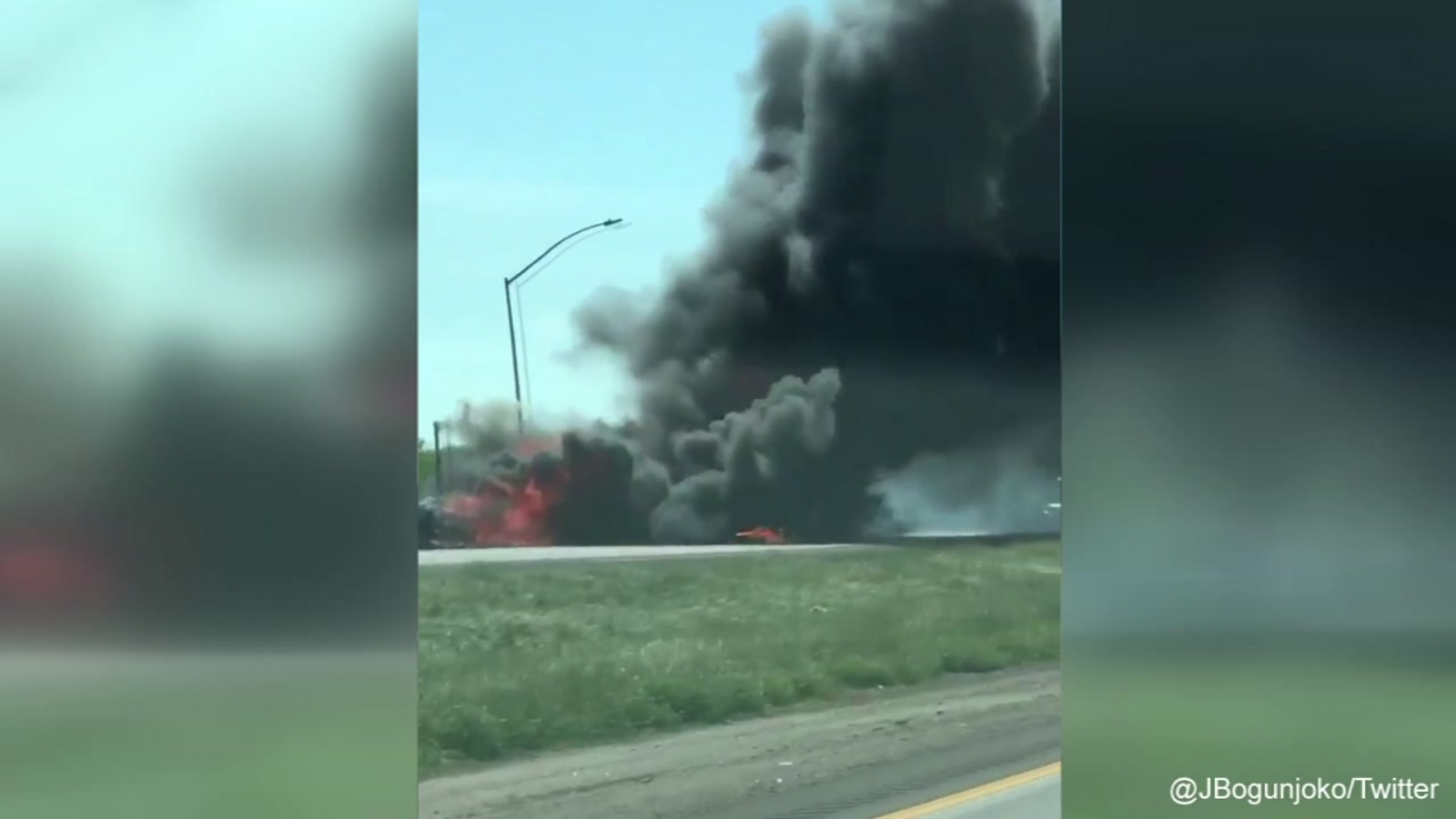 Fiery big rig crash shuts down I-5 near Modesto