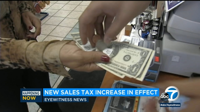 California sales tax increases for 51 cities