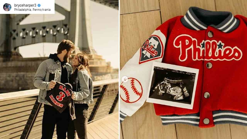 promo code abed1 333d8 Bryce Harper announces he and wife expecting baby boy