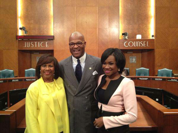 """<div class=""""meta image-caption""""><div class=""""origin-logo origin-image none""""><span>none</span></div><span class=""""caption-text"""">Melanie Lawson and Samica Knight were honored with a proclamation at City Hall (KTRK Photo)</span></div>"""