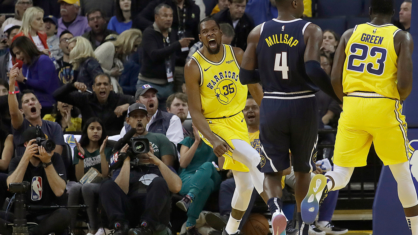 c0ebd6b697da Golden State Warriors star Kevin Durant ejected from game after 2 technical  fouls