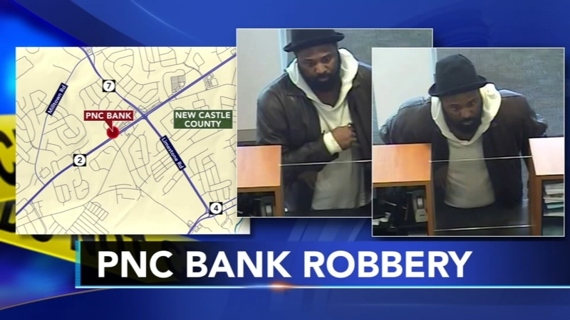 Suspect sought for PNC bank robbery in New Castle Co