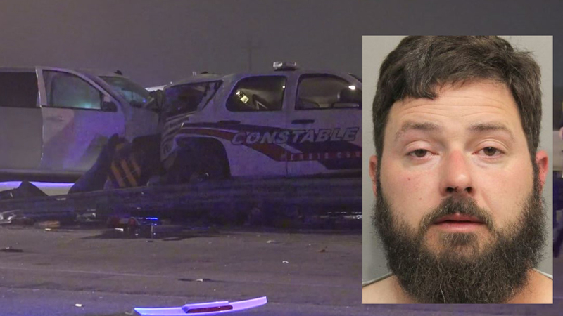 Suspected drunk driver slams into Pct  4 deputy constable's vehicle in NW  Harris Co