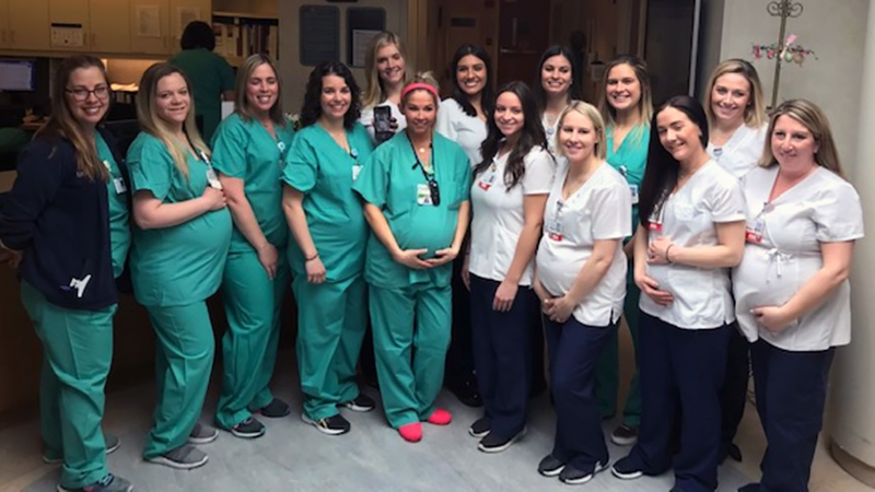 15 labor and delivery, NICU nurses pregnant at Long Island hospital