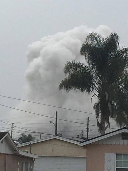 <div class='meta'><div class='origin-logo' data-origin='none'></div><span class='caption-text' data-credit='ABC7 viewer Jeffery Smith'>Smoke is seen after an explosion at the Exxon Mobil refinery in Torrance in this photo from ABC7 viewer Jeffery Smith.</span></div>